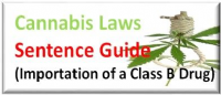 Sentencing Guidelines for Getting Caught Importing Cannabis Class B Drug into the UK
